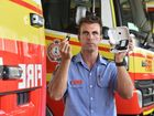 Darren Bosel, a senior firefighter in Maryborough, is reminding people to change the batteries in their smoke alarms on April 1.