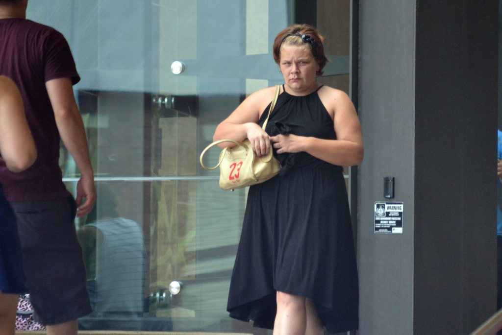 REMORSEFUL: Lisa Mary Dodds leaves the Ipswich Courthouse.