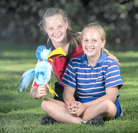 PEAS IN A POD: Aurora McBride and Annamonet Massey are performing a Lion King classic at the Gladstone Harbour Festival's talent quest.