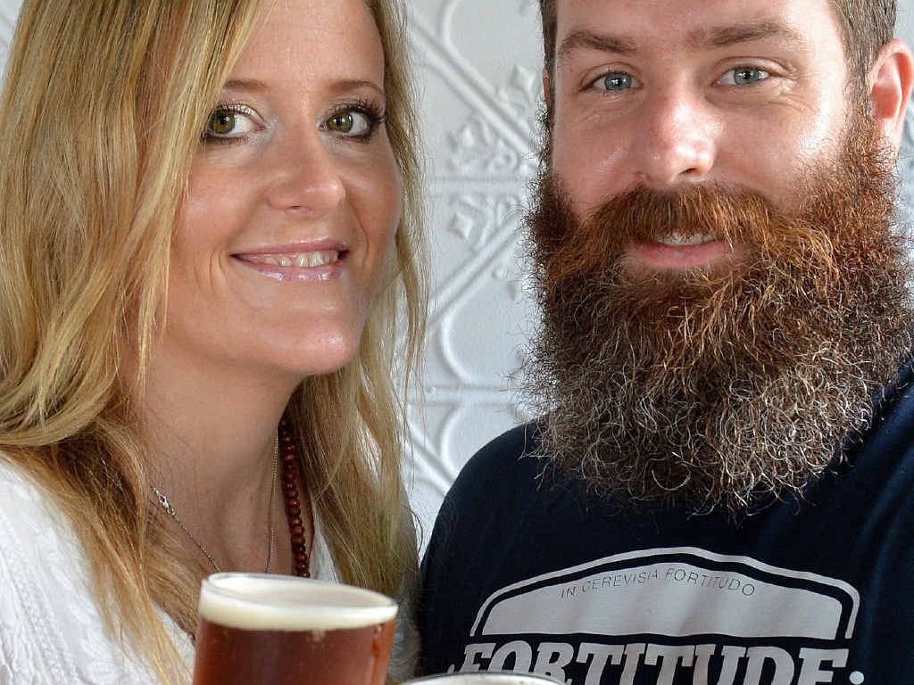 IN MEMORY: Josh and Aimee Collins have produced a special beer to commemorate the death of their daughter. Money raised fom the sale of the beer will assist sick babies and their families.