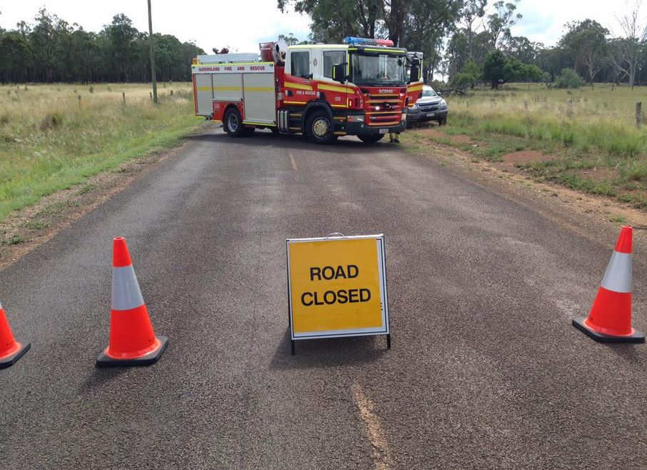 Roads are closed and a 600m exclusion zone has been set up near where a stick of gelignite has been found.