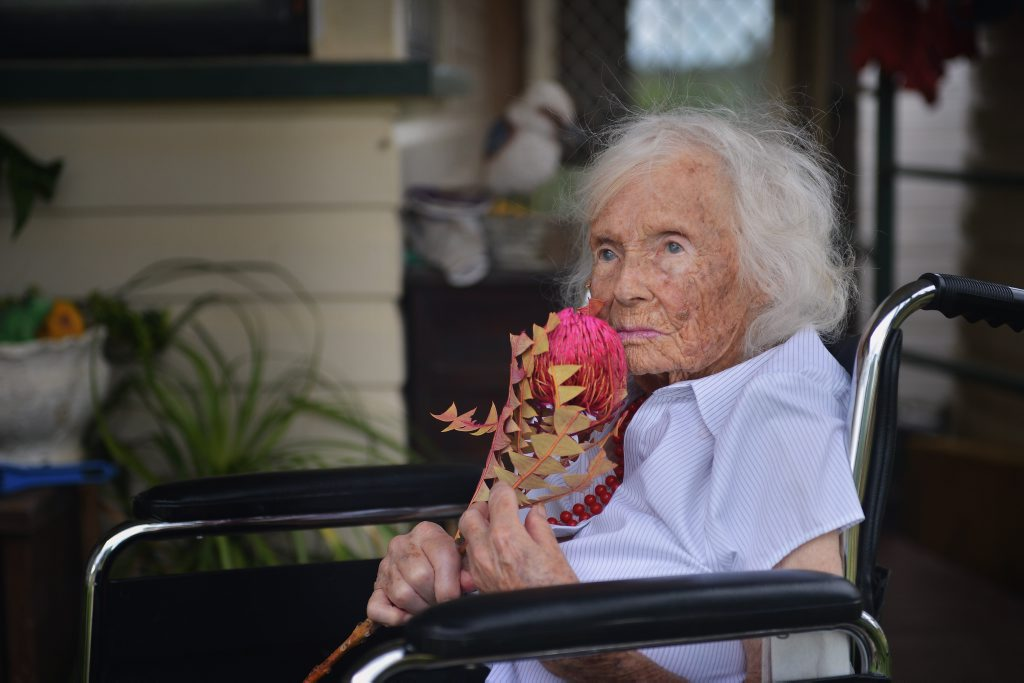LIFE WELL TRAVELLED: Tansey's Hilda (Peggy) Bessie Berry turned 101 yesterday. Peggy's rules in life include white bread with thick butter, lots of sugar in her tea and never to over-eat. Greg Miller