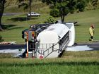 A truck and van crash on the D'Aguilar Highway Kilcoy. One man died at the scene. Photo Vicki Wood / Caboolture News