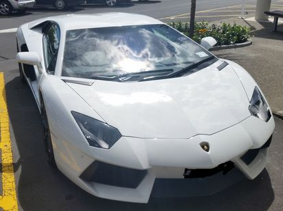 The supercar, worth more than $400,000, would later be towed. It is not the first time its owner has parked illegally at the shopping centre.