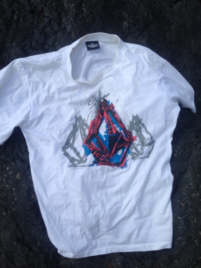 The shirt police found near where the body was seen.