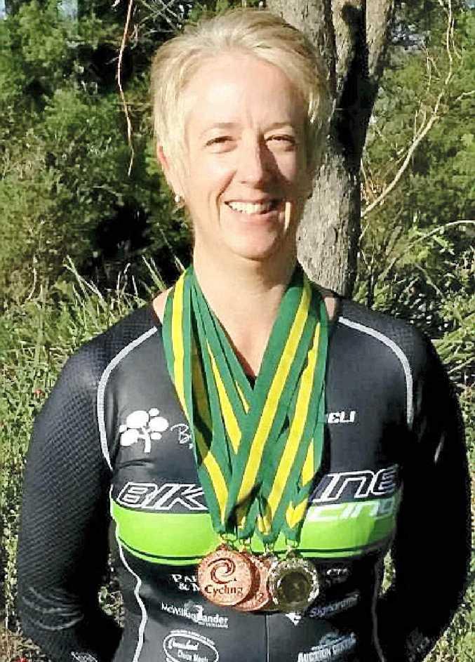 MEDAL TIME: Toowoomba cyclist Megan Stevens.