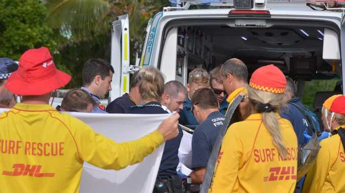 A man was airlifted to Royal Brisbane Hospital in critical condition after crashing his Trikeultalight aircraft near Noosa Main Beach around 7am. Photo: John McCutcheon / Sunshine Coast Daily