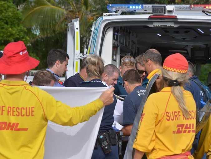 A man was airlifted to Royal Brisbane Hospital in critical condition after crashing his Trikeultalight aircraft near Noosa Main Beach around 7am. Photo: John McCutcheon / Sunshine Coast Daily