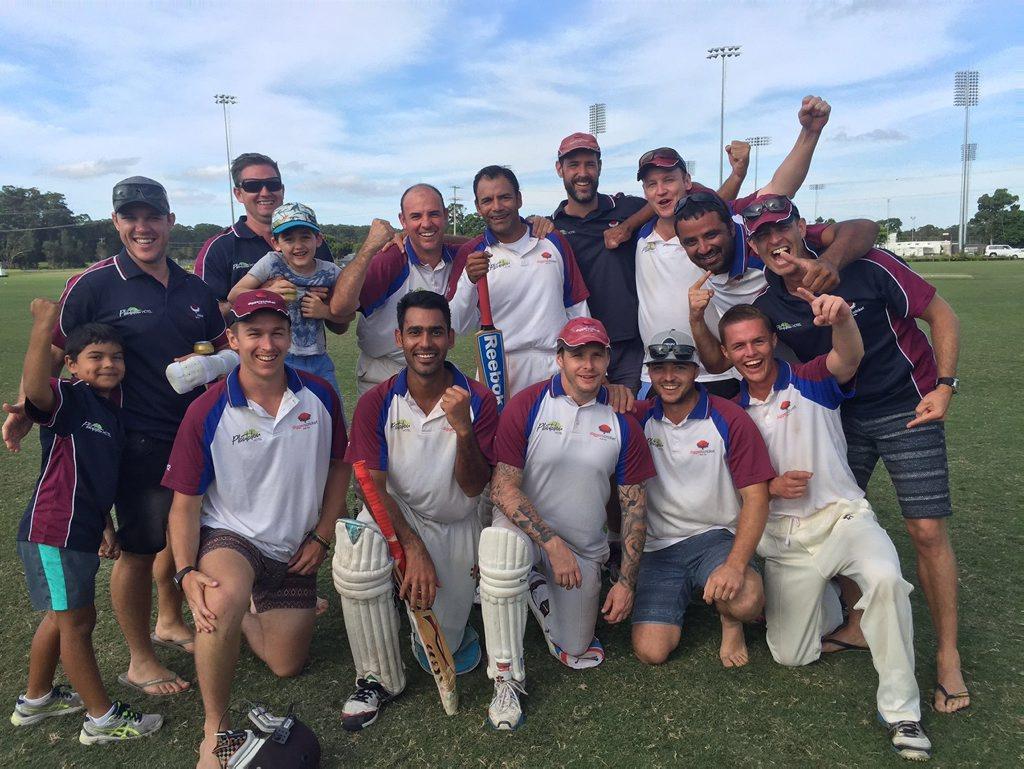 WINNERS ARE GRINNERS: Plantation Diggers celebrates winning the 2014/15 CHDCA first grade premiership. Photo: Brad Greenshields/Coffs Coast Advocate