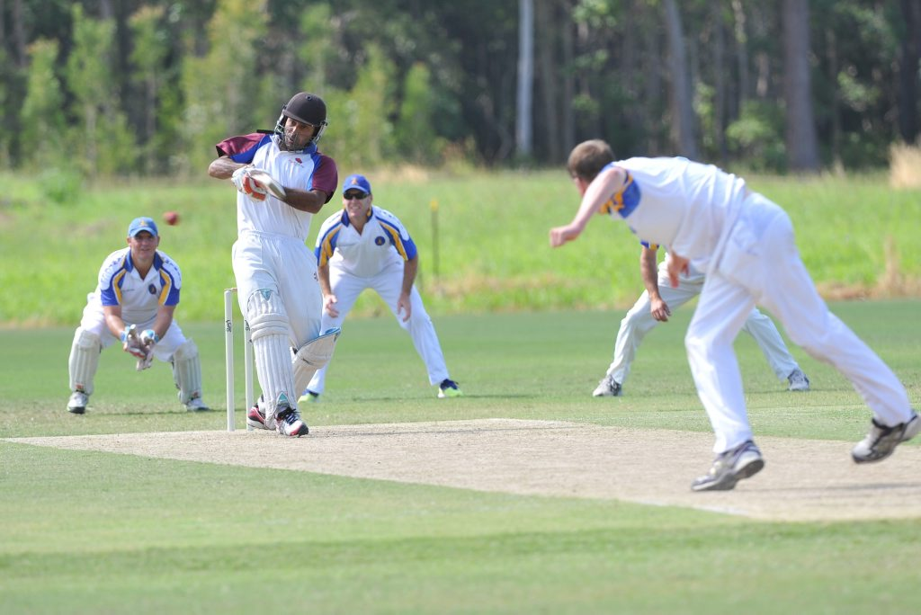 Batting is Raj Sandhu at the cricket grandfinal played at the Coff Coast Leisure Park. Batting is Diggers with Sawtell fielding. Leigh Jensen / Coffs Coast Advocate March 29, 2015