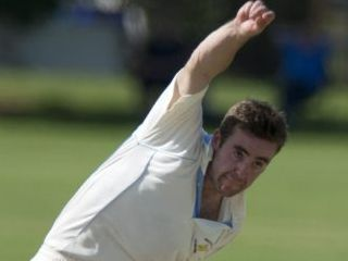 BOWLING WELL: Shaun McCarthy bowls for Wests in TCI A grade. Photo Kevin Farmer / The Chronicle