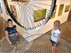 Artists Susie Lewis from Toogoom and Hayley Groves George from Maryborough with their Vessel exhibition at the Hervey Bay Regional Gallery.