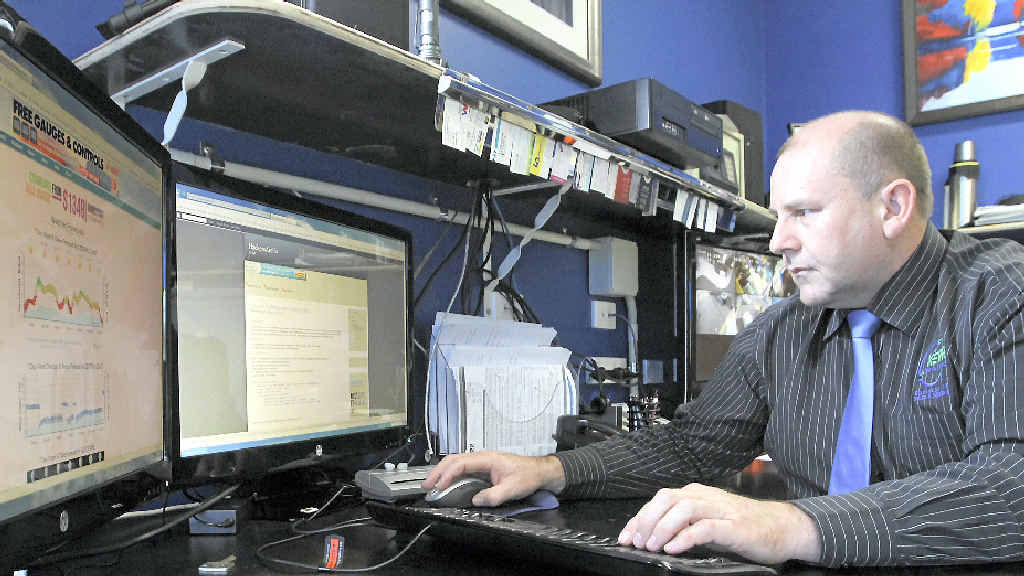 DON'T OPEN: Bruce Kerr has received many calls over the years about scams, but said the latest one is spreading rapidly.