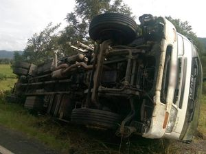 Truck rollover just the start of driver's birthday blues