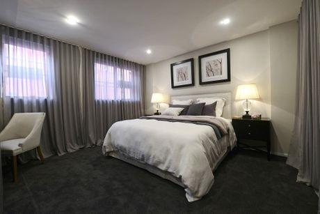 Tim and Anastasia's master bedroom on The Block Triple Threat.