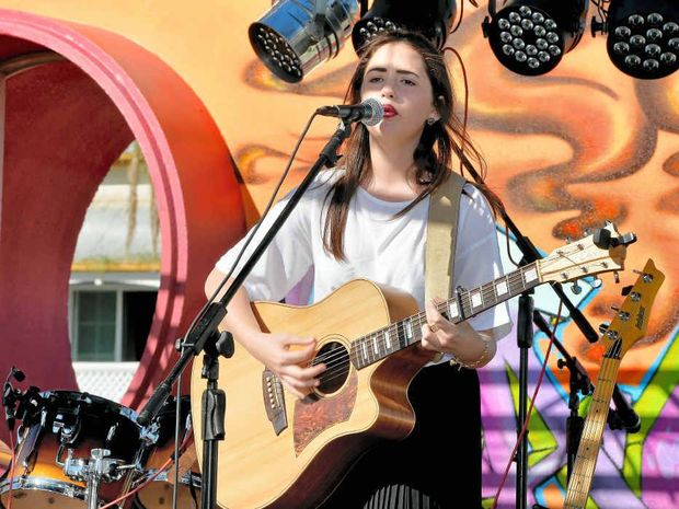 Tia Gostelow performs in the Battle of the Bands during The Lanes Easter Carnival last year.