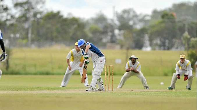 WORTH THE WAIT: Matt Shallcross during his innings of 58* in the Gladstone Cricket final which his Brothers team won. The team had waited 12 years before winning this premiership.