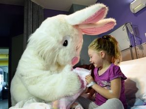Easter bunny wanders through Hervey Bay Hospital