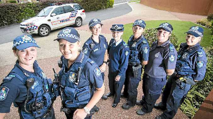 DREAM JOB: Acting Sergeant Andrea Campagnolo, Constable Kirsty Blamer, Constable Rehana Lewis, Sergeant Merrilyn Hoskins, Senior Sergeant Jane Healy, Sergeant and officer-in-charge Natalie Abbott and Senior Constable Alison Smith.
