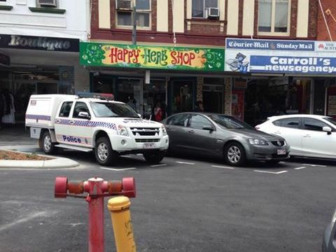 Drug raid at Happy High Herbs, Mackay.