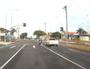 Dash cam captures motorcyclist's dangerous turn