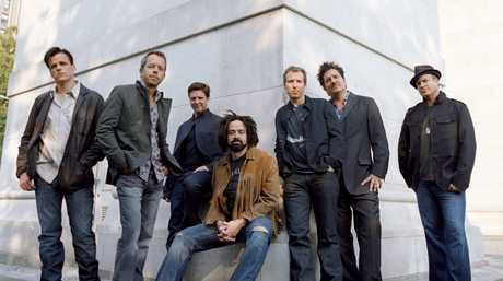 The band Counting Crows, with lead singer Adam Duritz pictured centre.