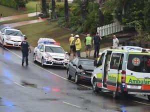 Two-car crash on Christensen St at Urraween