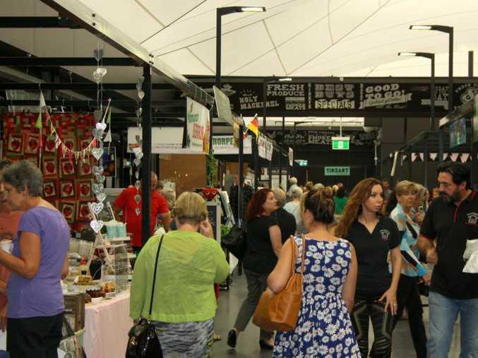 Market day at the $20million refurbishment of Big Top Market Fresh at Maroochydore.