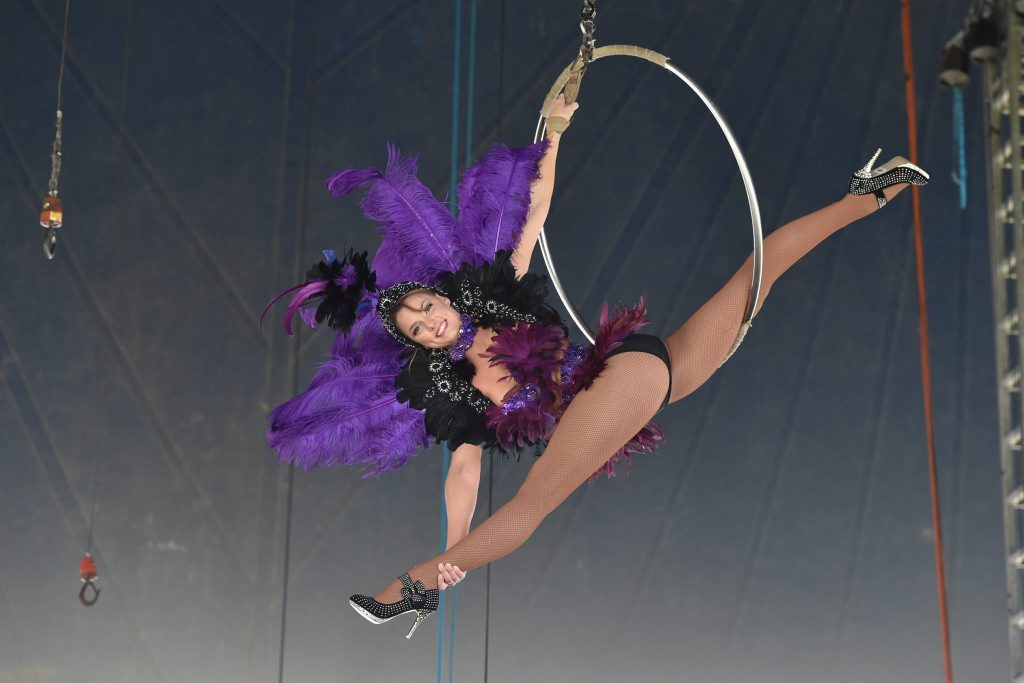 Webers Circus aerialist Dakota Weber.