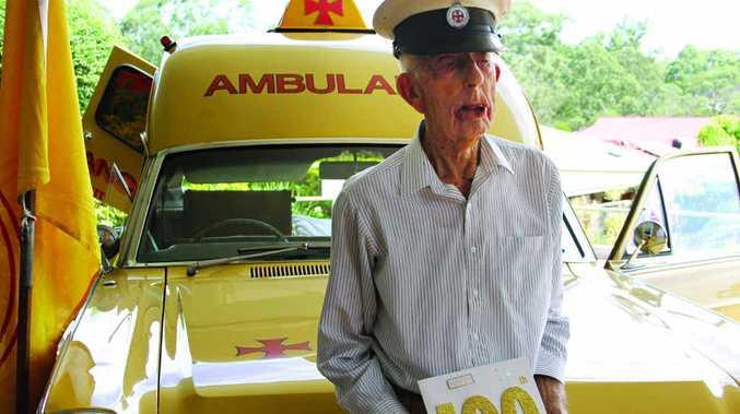 Les Merker on his 100th birthday.