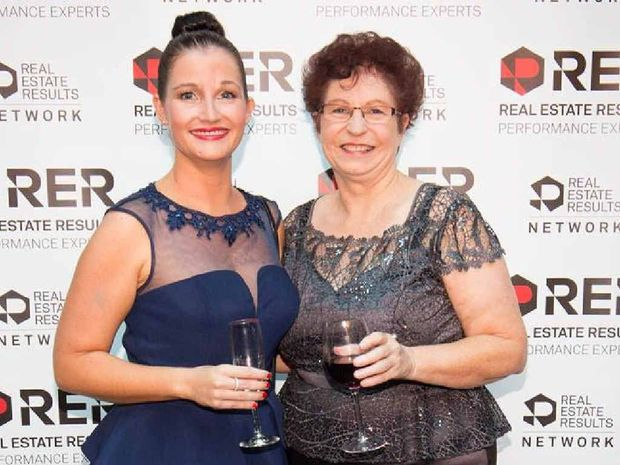 OVER THE MOON: Yeppoon Real Estate's Claudia and Esme Coren (daughter and mother) enjoy the atmosphere at the Australasian Real Estate Results Awards.