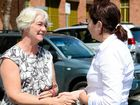 RISING TO THE CHALLENGE: Rockhampton Mayor Margaret Strelow greets Queensland Premier Annastacia Palaszczuk.