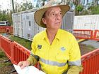 "ON THE GROUND: Bob Pleash from Ergon Energy at the site in Byfield where they set up a ""Pegasus"" generator to supply power to most residents in the area until normal infrastructure was restored. Chris Ison"