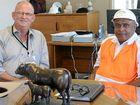 PERSONAL IMPACT: Minister Bill Byrne with Teys Bros meatworks boss Wasantha Mudannayake. Allan Reinikka
