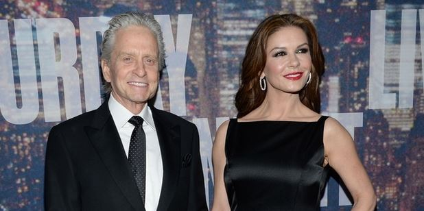 Actor Michael Douglas, pictured with wife Catherine Zeta-Jones, was diagnosed with throat cancer in 2010.