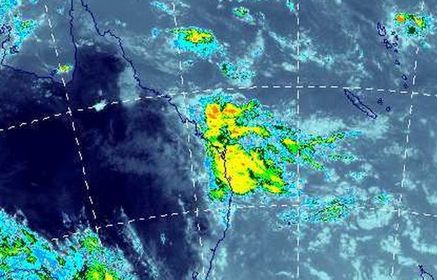 Satellite images from the Bureau of Meteorology showing the threat of rain over the Easter break.