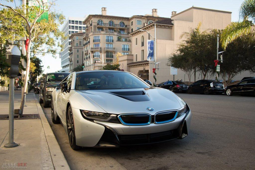 The 2014 BMW i8.
