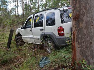 Car crash in Wattle Camp Road