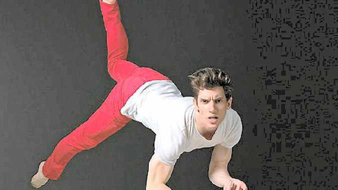 AIRBORNE: Young contemporary dancer Joseph Simons is looking forward to performing First Things First at the Yeppoon Town Hall tonight.