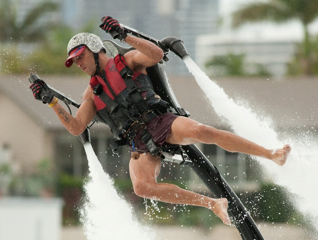 Australian-based firm 1800Jetpack.com will bring its stunt team to Gladstone for the first time, with shows on Saturday and Sunday.