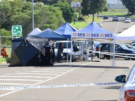 The scene of a fatal stabbing on Cobalt Street in Carole Park on Thursday. Photo: Rob Williams / The Queensland Times