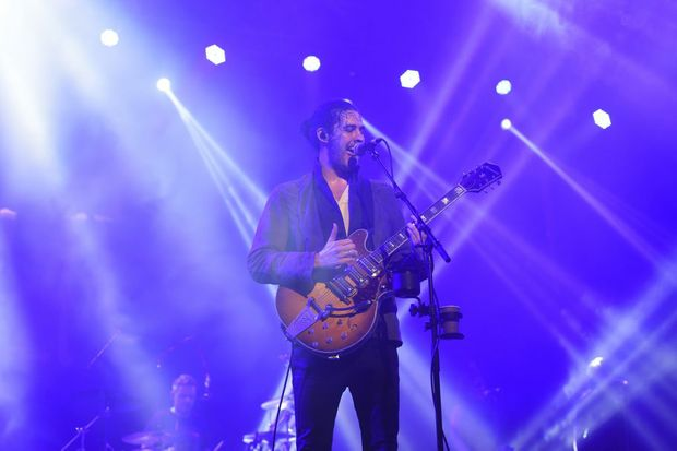 Irish singer songwriter Hozier, aka Andrew Hozier-Byrne, 25, got the star treatment by Bluesfest punters at the first day of music in this year's festival at Tyagarah.Photo Marc Stapelberg / The Northern Star