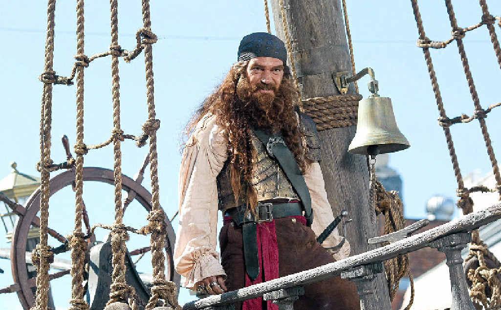 Antonio Banderas as Burger Beard in The SpongeBob Movie: Sponge Out of Water.