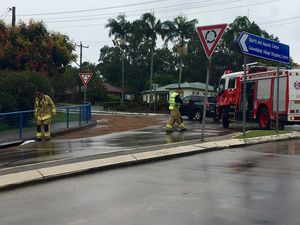 Road closed at Goonellabah as firefighters clean up spill