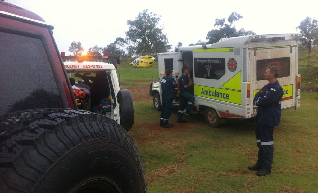 AIR LIFTED: A man was flown to Brisbane after a motocross crash at Manar Park.