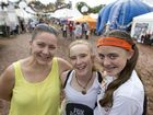 Out and about at Easterfest are (from left) Roz Cooper, Sarah Jubb and Mackenzie Cooper.