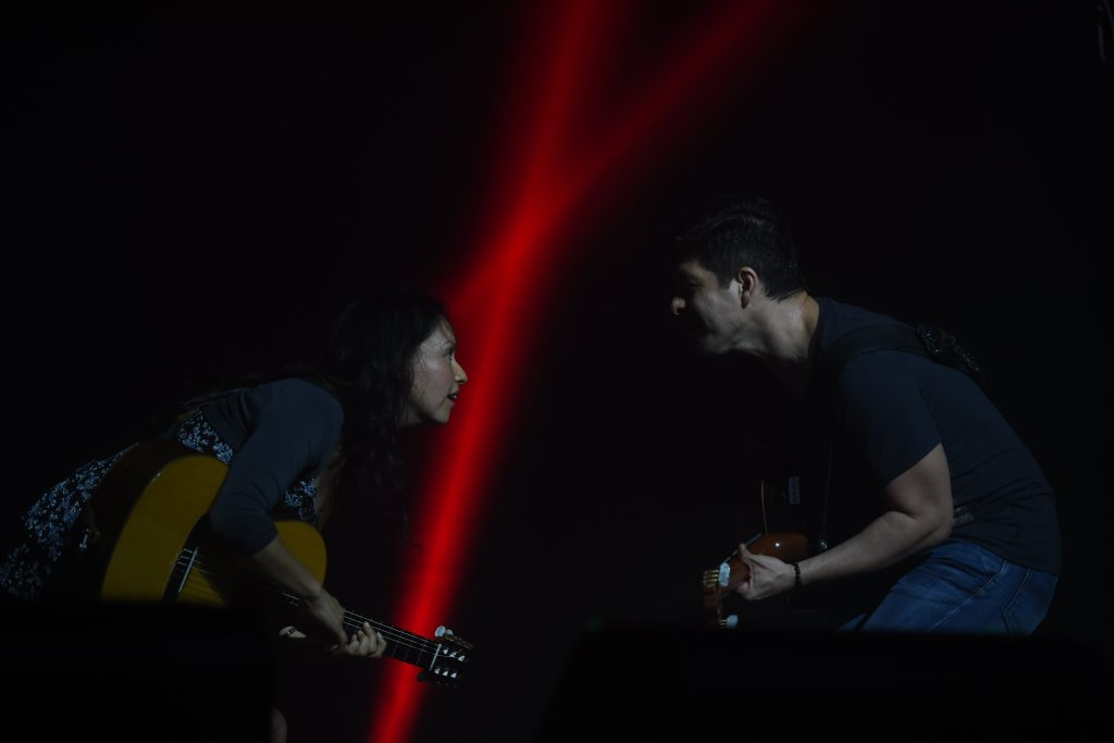 Rodrigo y Gabriela perform at the Crossroads tent at the 2015 Byron Bay Bluesfest in Tyagarah. Photo Marc Stapelberg / The Northern Star