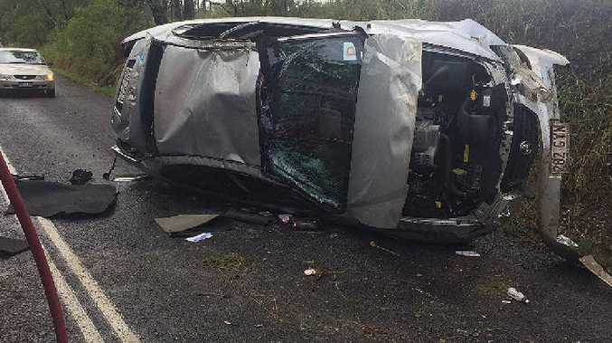 ACCIDENT: A single vehicle rollover on Randwick Rd involved a woman and young child on Thursday.