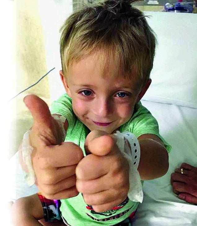 Calliope boy Hunter Einam, 3, needs a new kidney.
