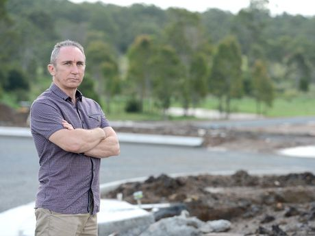 Jim Dodrill, president of IRATE community group is against development so close to Six Mile Creek at Collingwood Park.